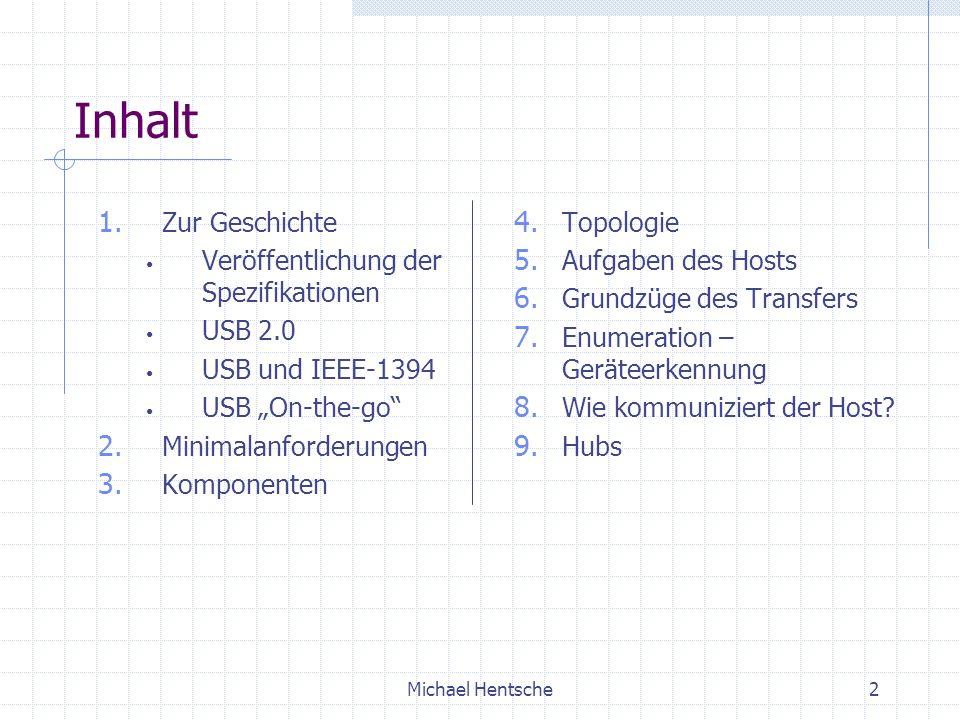 Inhalt Zur Geschichte Veröffentlichung der Spezifikationen USB 2.0