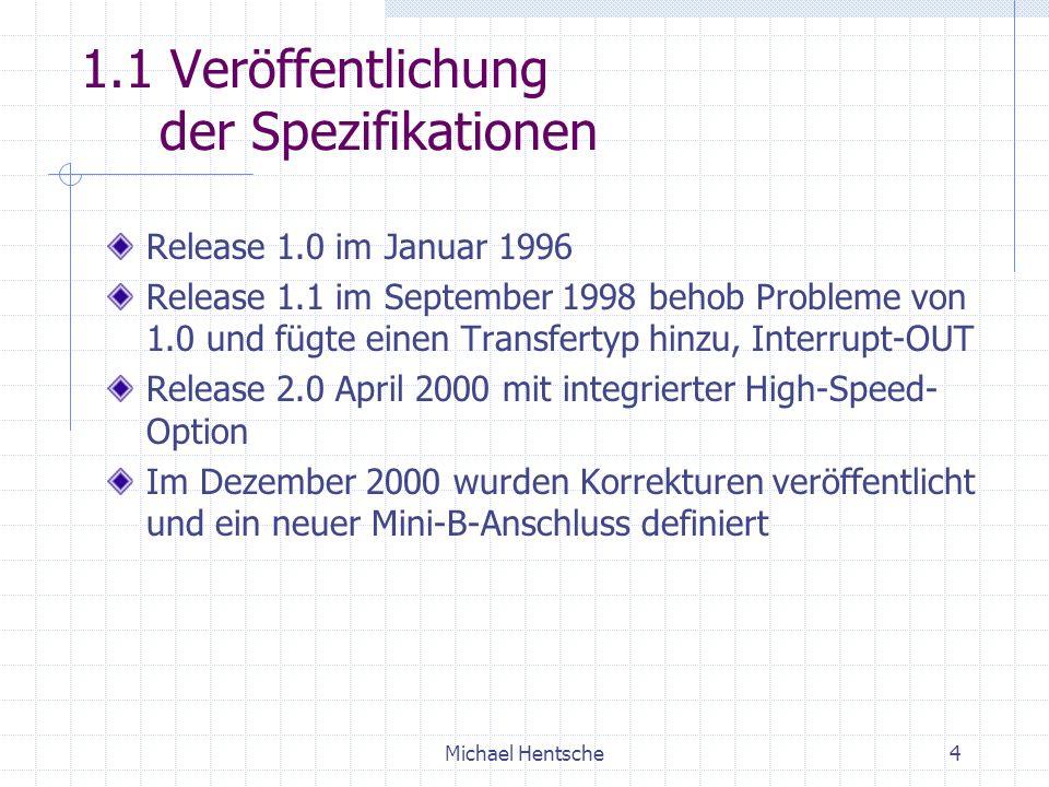 1.1 Veröffentlichung der Spezifikationen