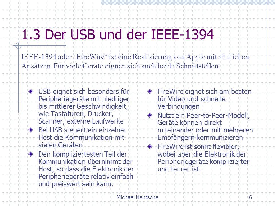 1.3 Der USB und der IEEE-1394