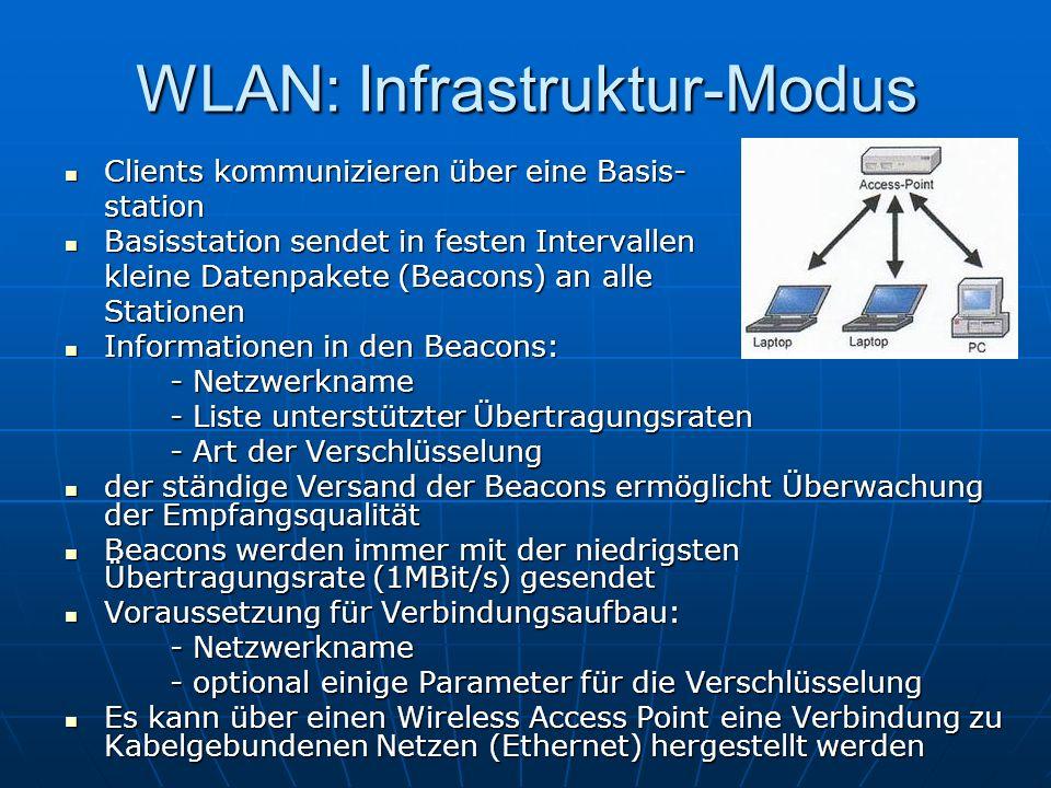 WLAN: Infrastruktur-Modus