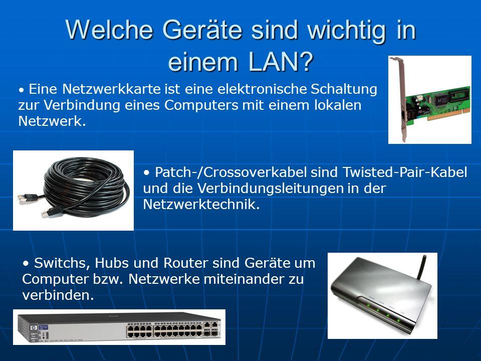 Welche Geräte sind wichtig in einem LAN