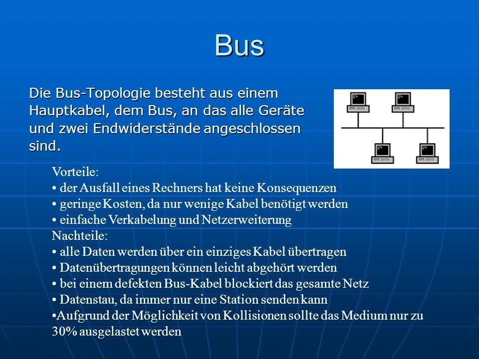 Bus Die Bus-Topologie besteht aus einem