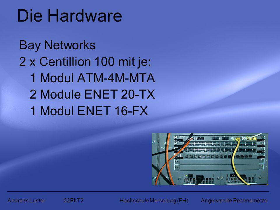 Die Hardware Bay Networks 2 x Centillion 100 mit je: