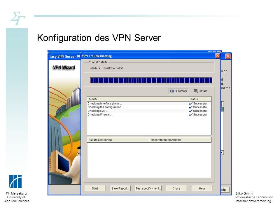 Konfiguration des VPN Server
