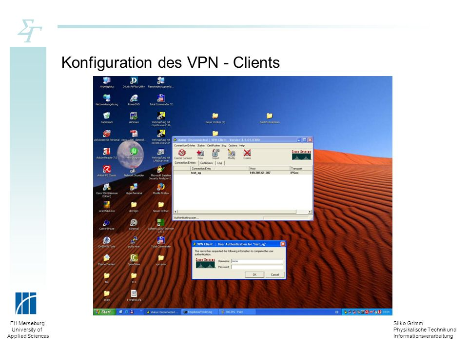 Konfiguration des VPN - Clients