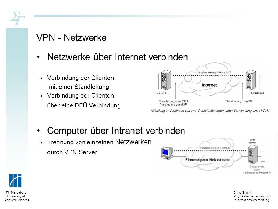 Netzwerke über Internet verbinden