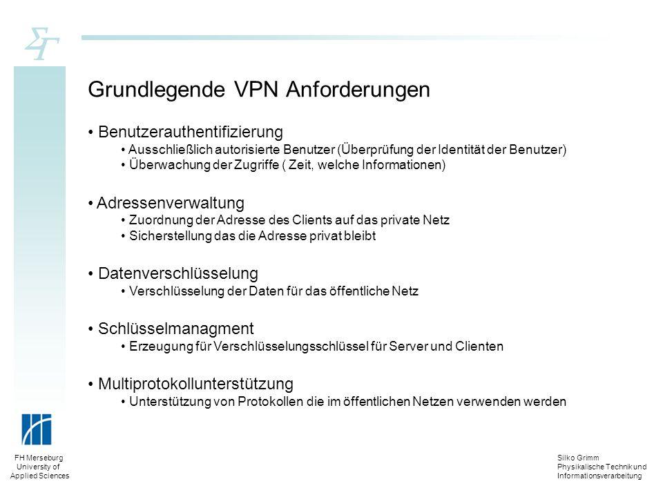 Grundlegende VPN Anforderungen