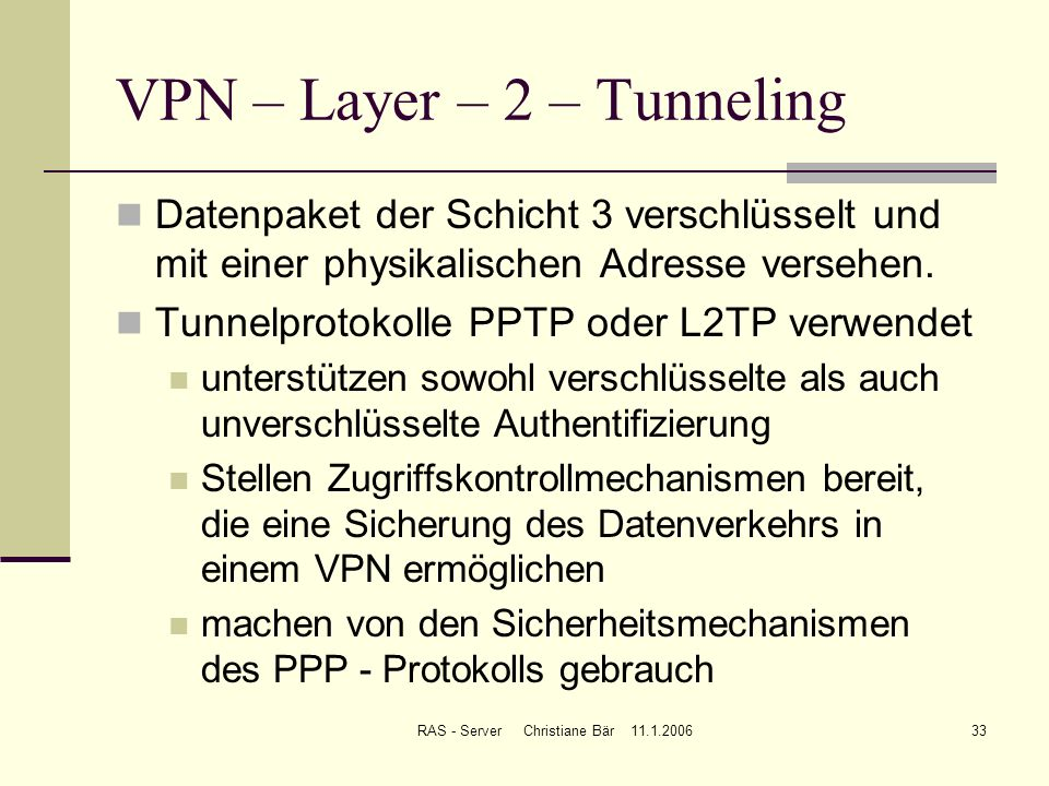 VPN – Layer – 2 – Tunneling