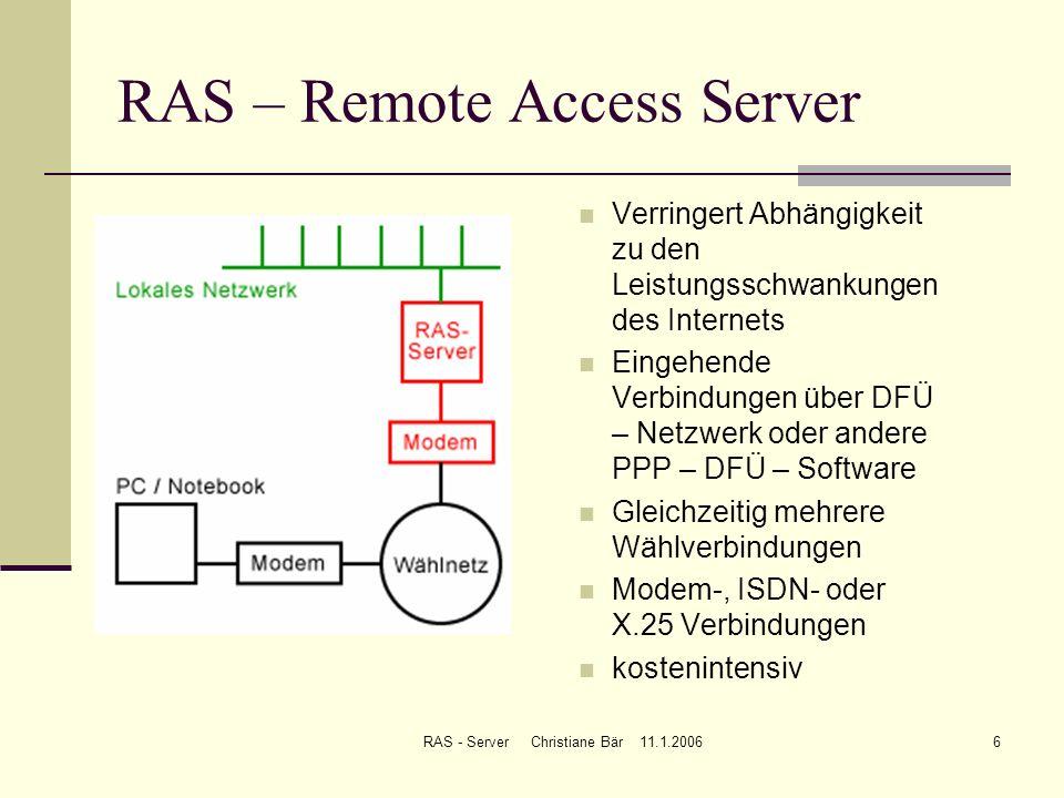RAS – Remote Access Server