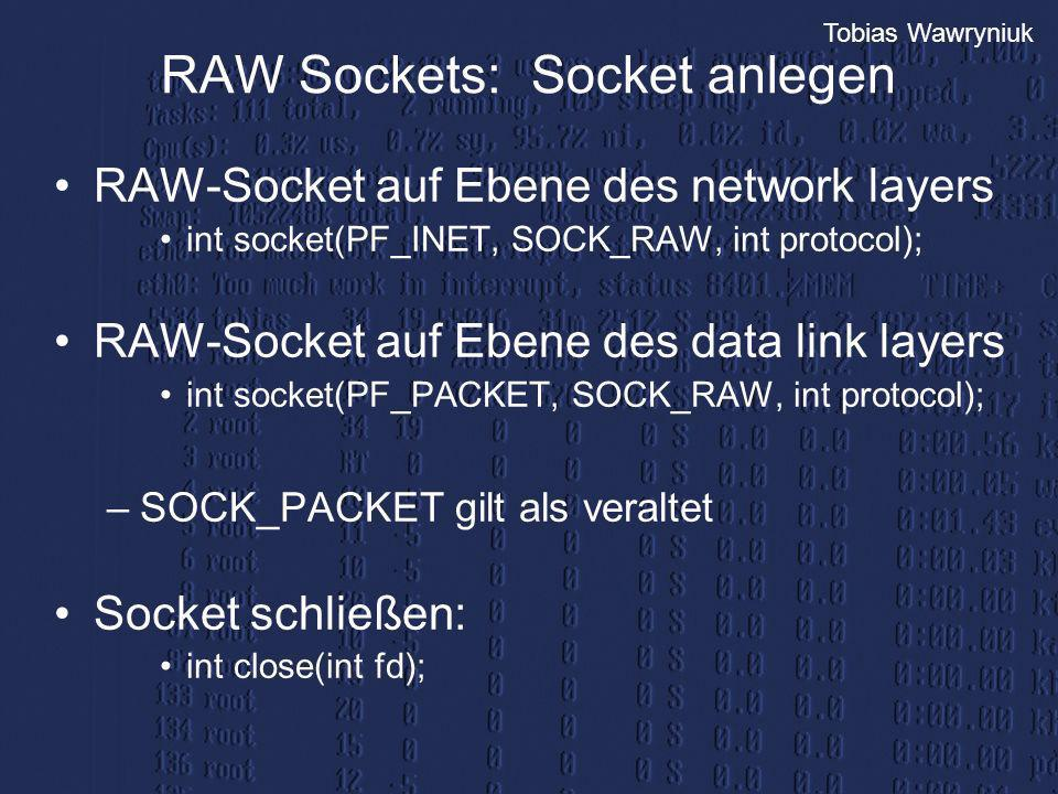 RAW Sockets: Socket anlegen