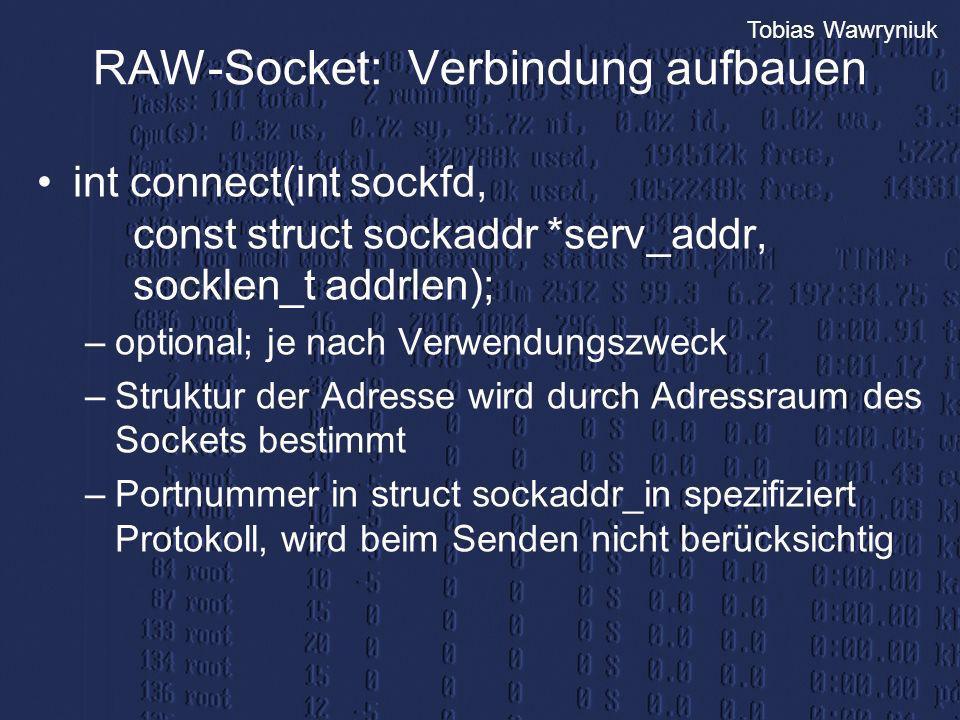 RAW-Socket: Verbindung aufbauen