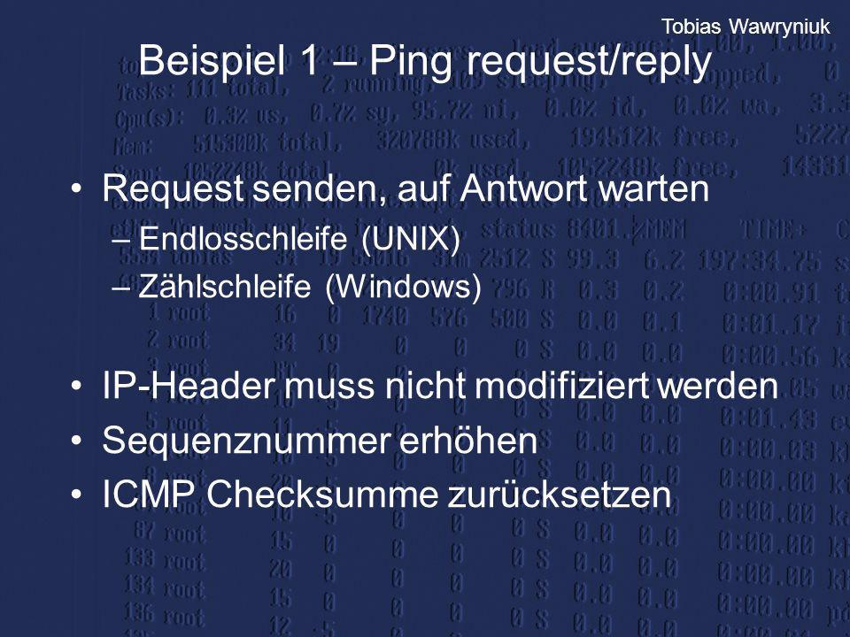 Beispiel 1 – Ping request/reply