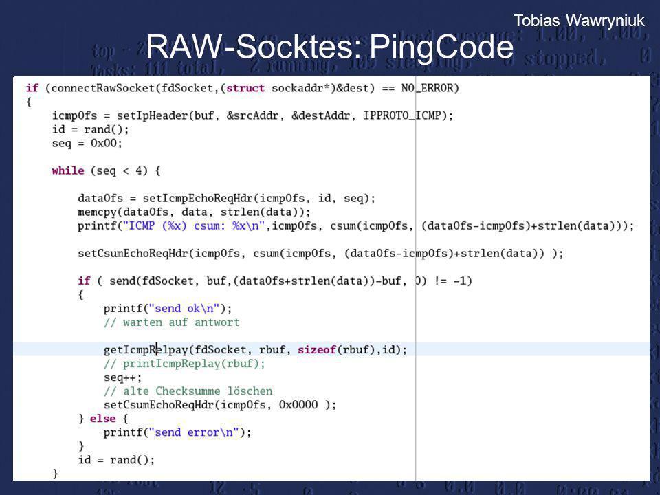 RAW-Socktes: PingCode