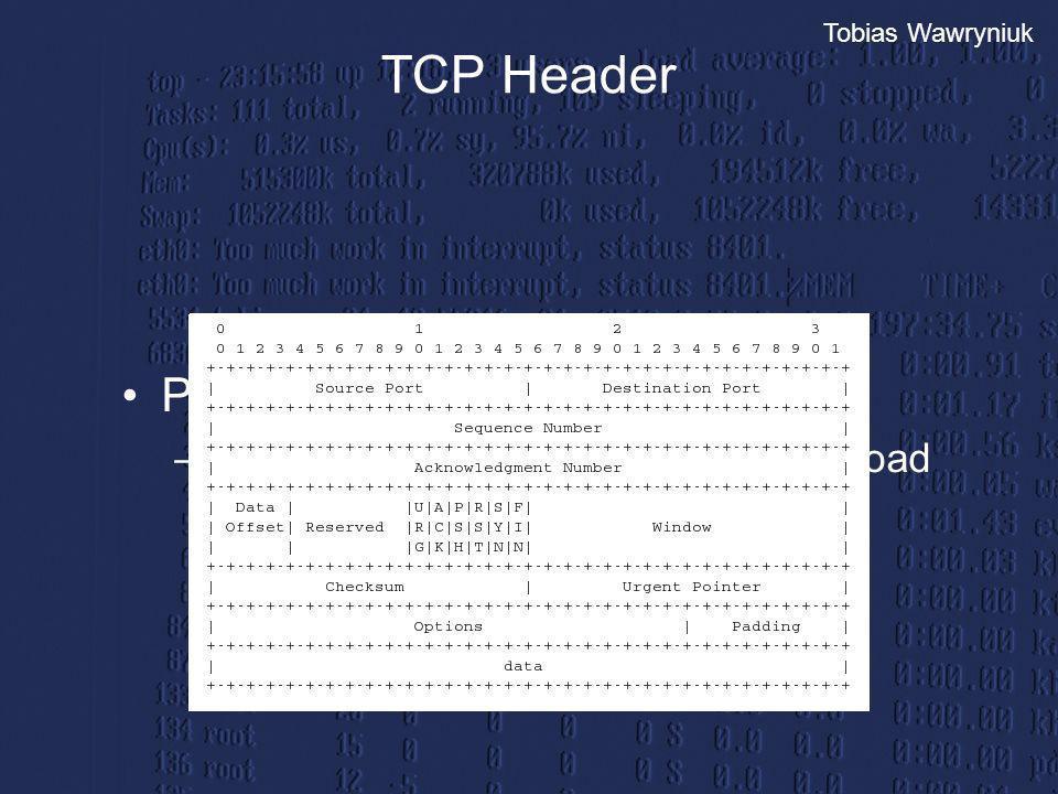 TCP Header Prüfsumme: pseudo header, tcp header und payload