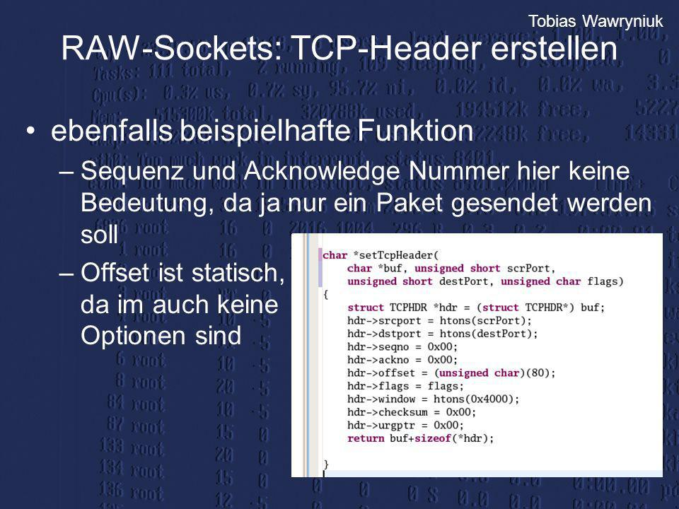 RAW-Sockets: TCP-Header erstellen