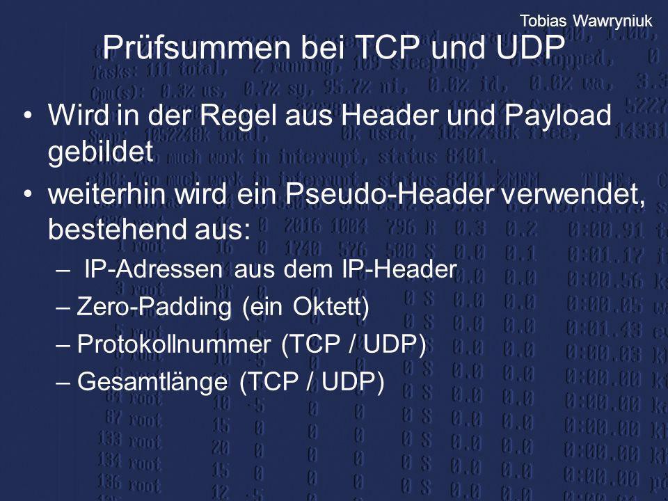 Prüfsummen bei TCP und UDP