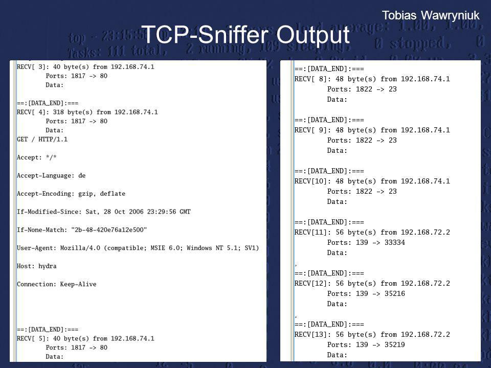 TCP-Sniffer Output