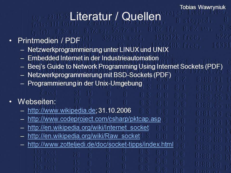 Literatur / Quellen Printmedien / PDF Webseiten: