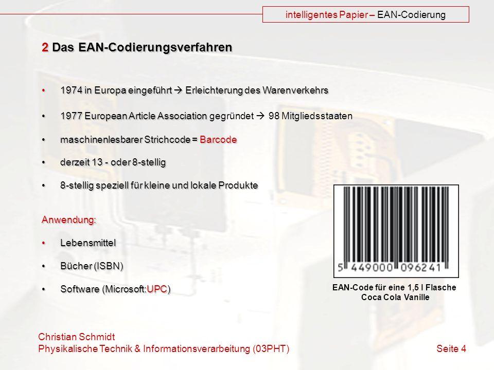 EAN-Code für eine 1,5 l Flasche