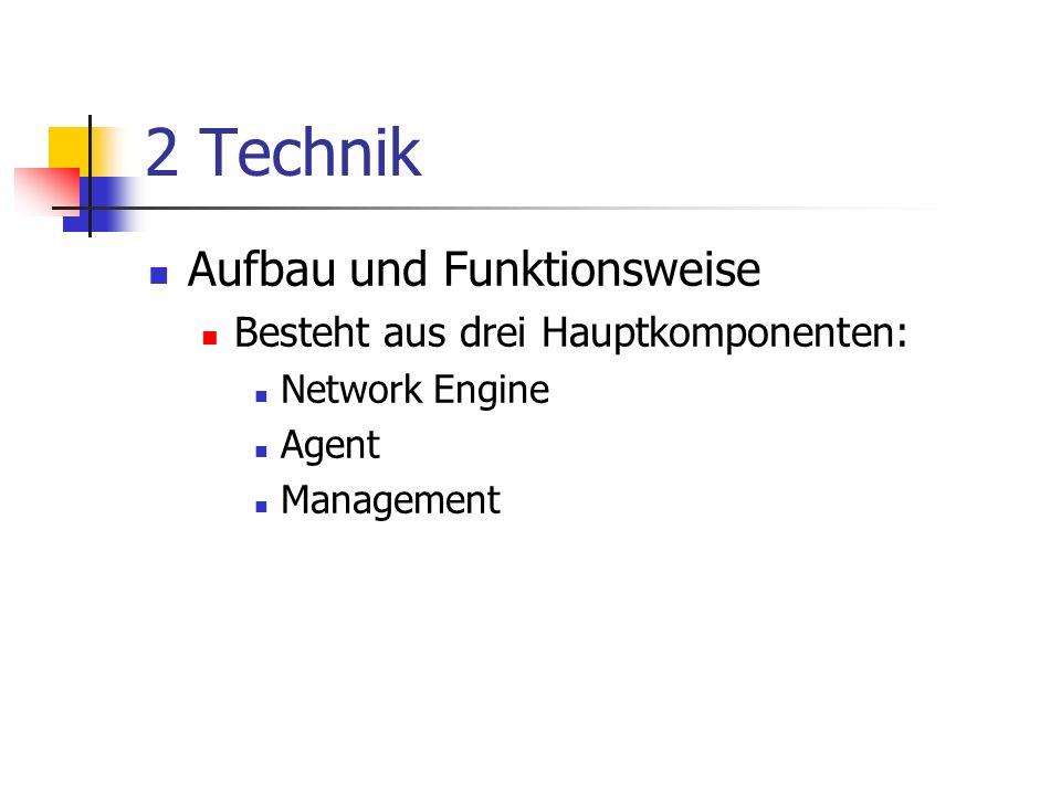 2 Technik Aufbau und Funktionsweise Besteht aus drei Hauptkomponenten:
