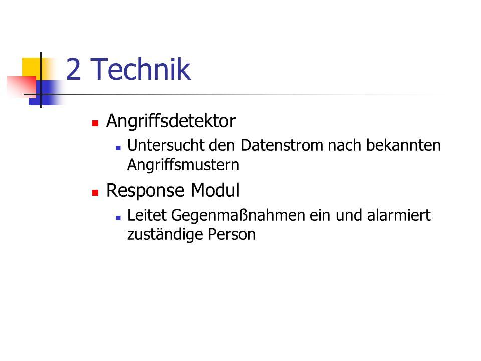 2 Technik Angriffsdetektor Response Modul