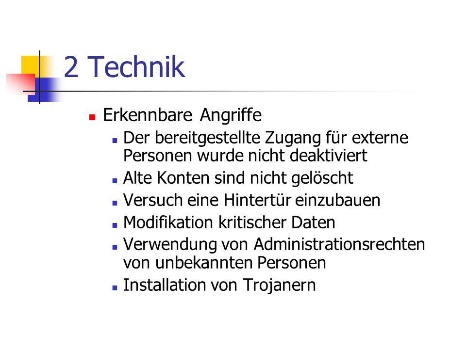 2 Technik Erkennbare Angriffe