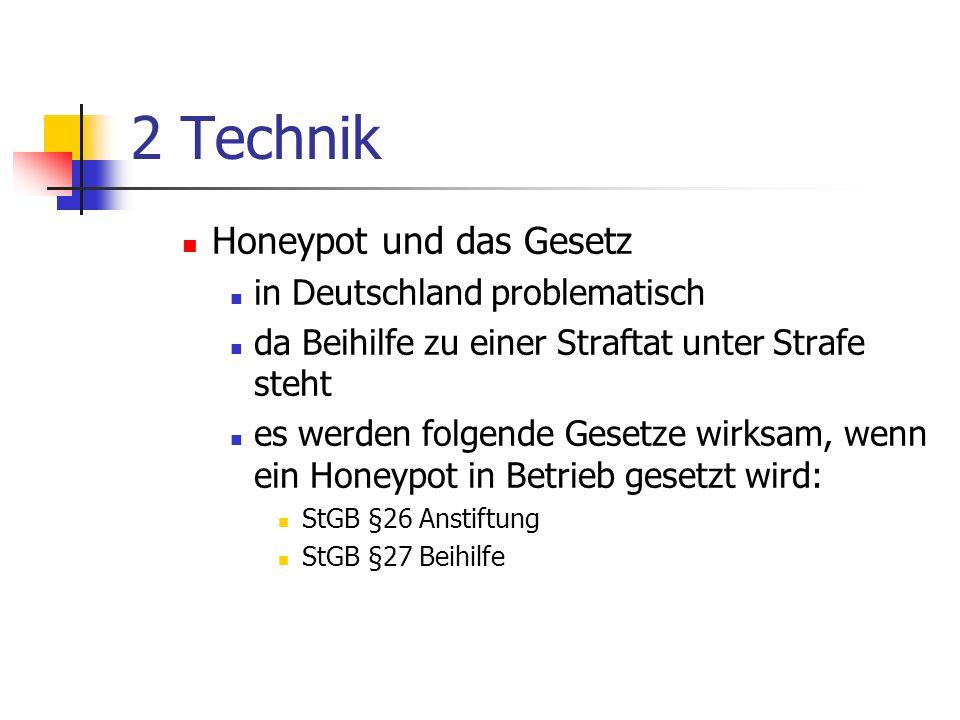 2 Technik Honeypot und das Gesetz in Deutschland problematisch
