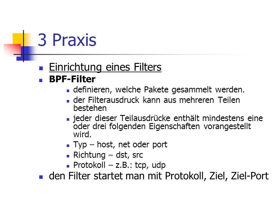 3 Praxis Einrichtung eines Filters