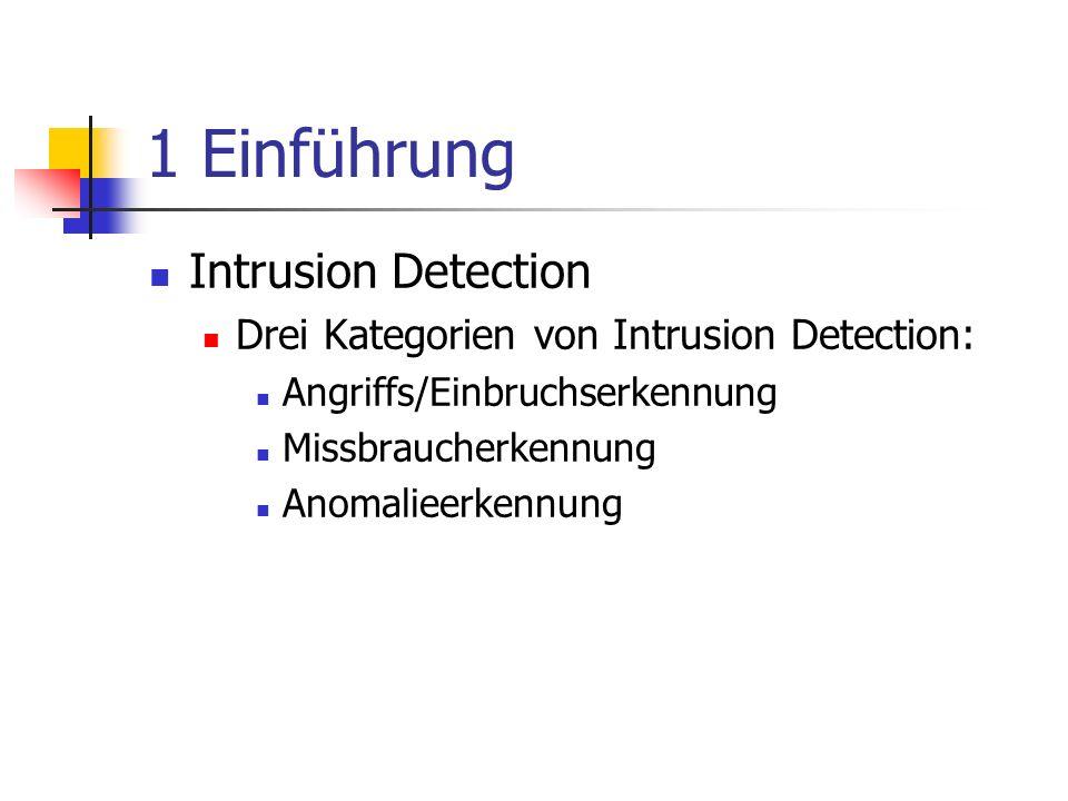 1 Einführung Intrusion Detection
