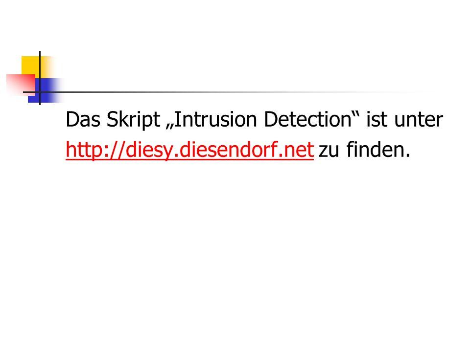"""Das Skript """"Intrusion Detection ist unter"""