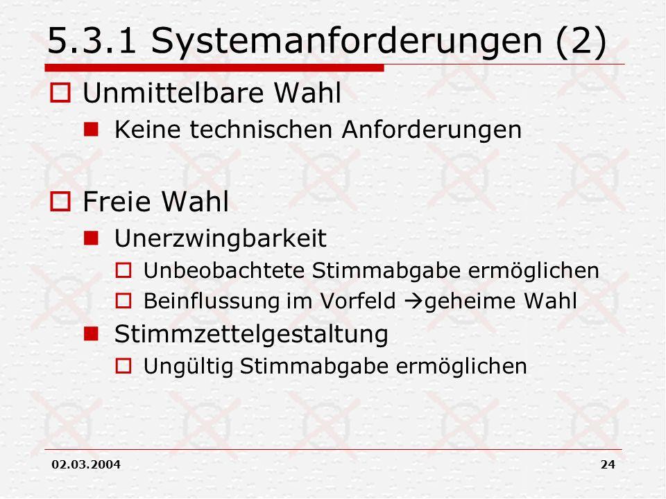 5.3.1 Systemanforderungen (2)