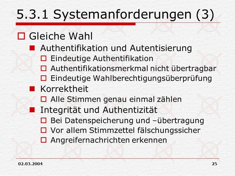 5.3.1 Systemanforderungen (3)