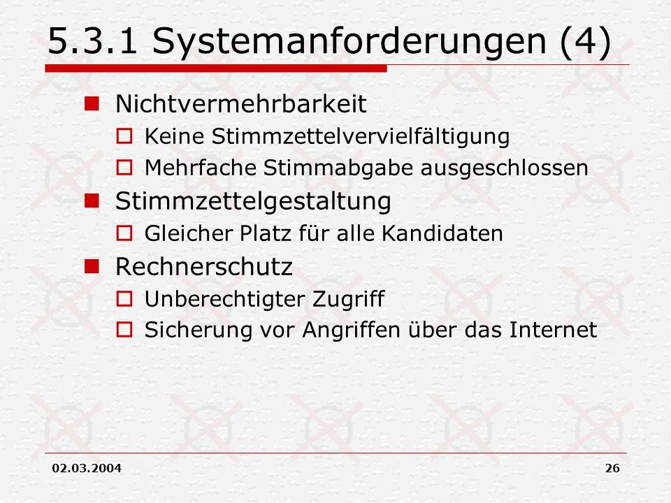 5.3.1 Systemanforderungen (4)