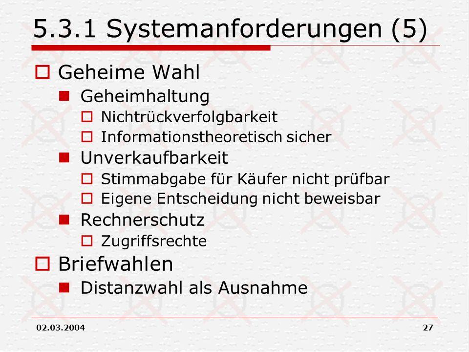 5.3.1 Systemanforderungen (5)