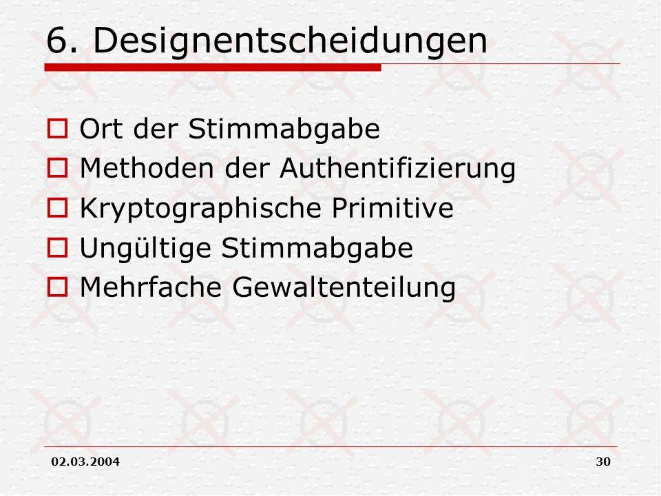 6. Designentscheidungen