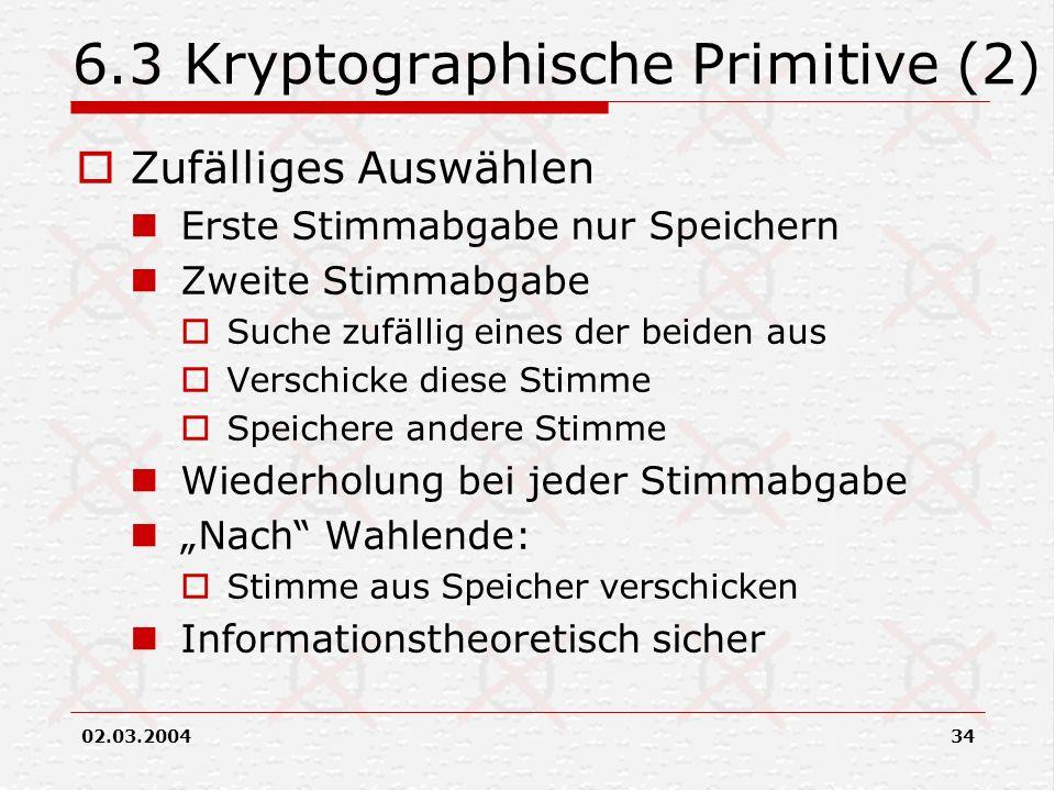 6.3 Kryptographische Primitive (2)