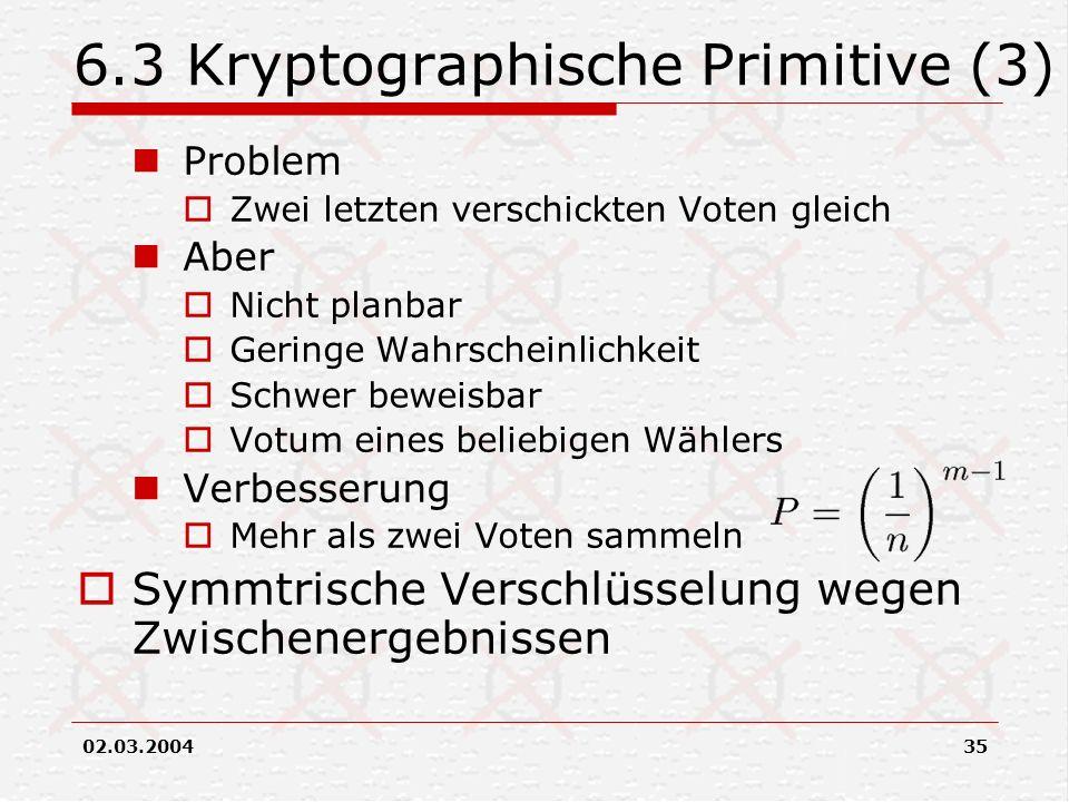 6.3 Kryptographische Primitive (3)
