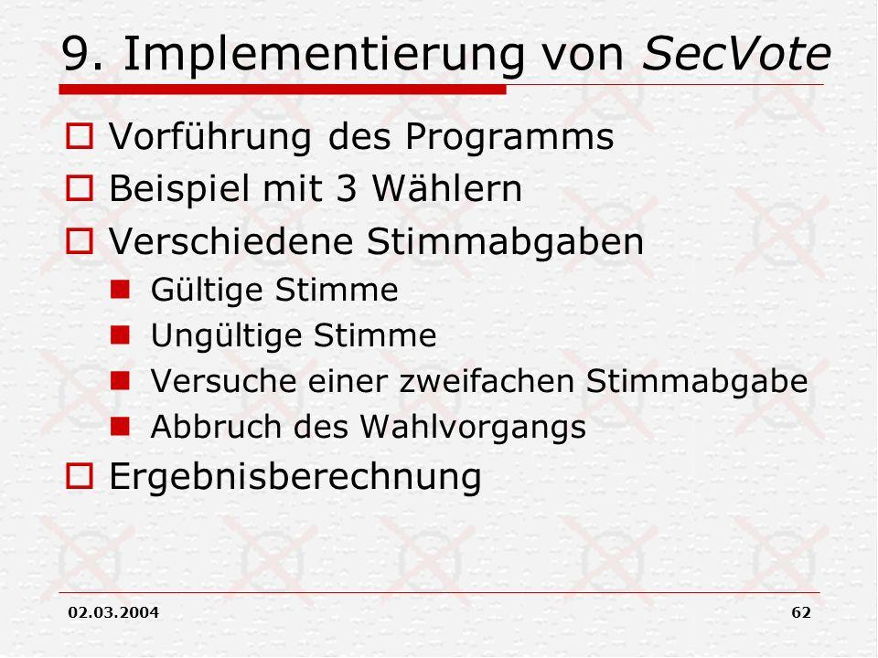 9. Implementierung von SecVote