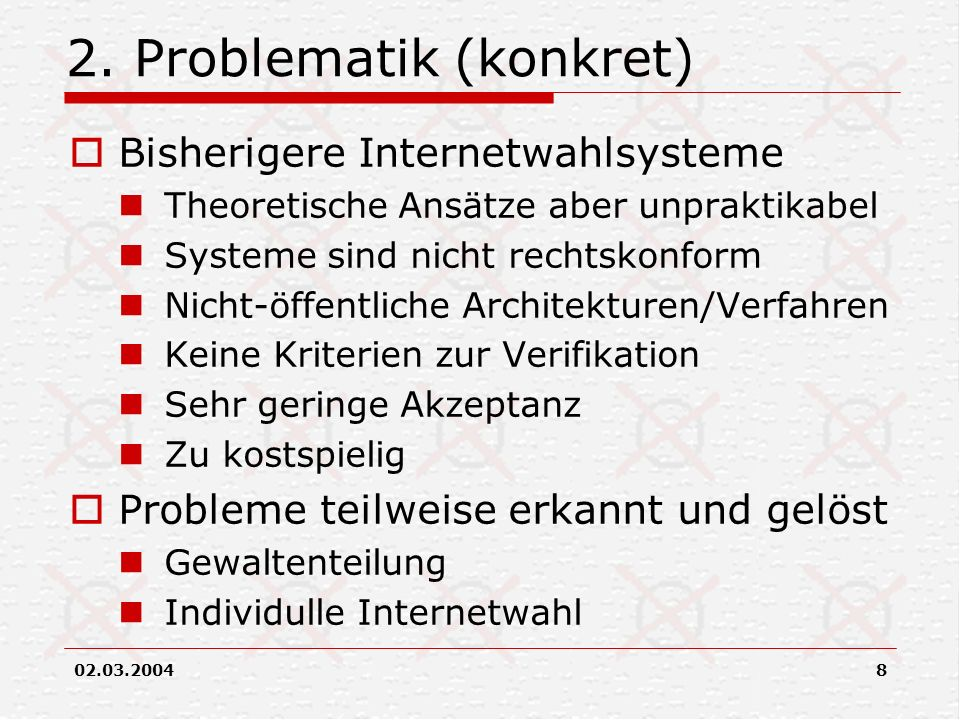 2. Problematik (konkret)