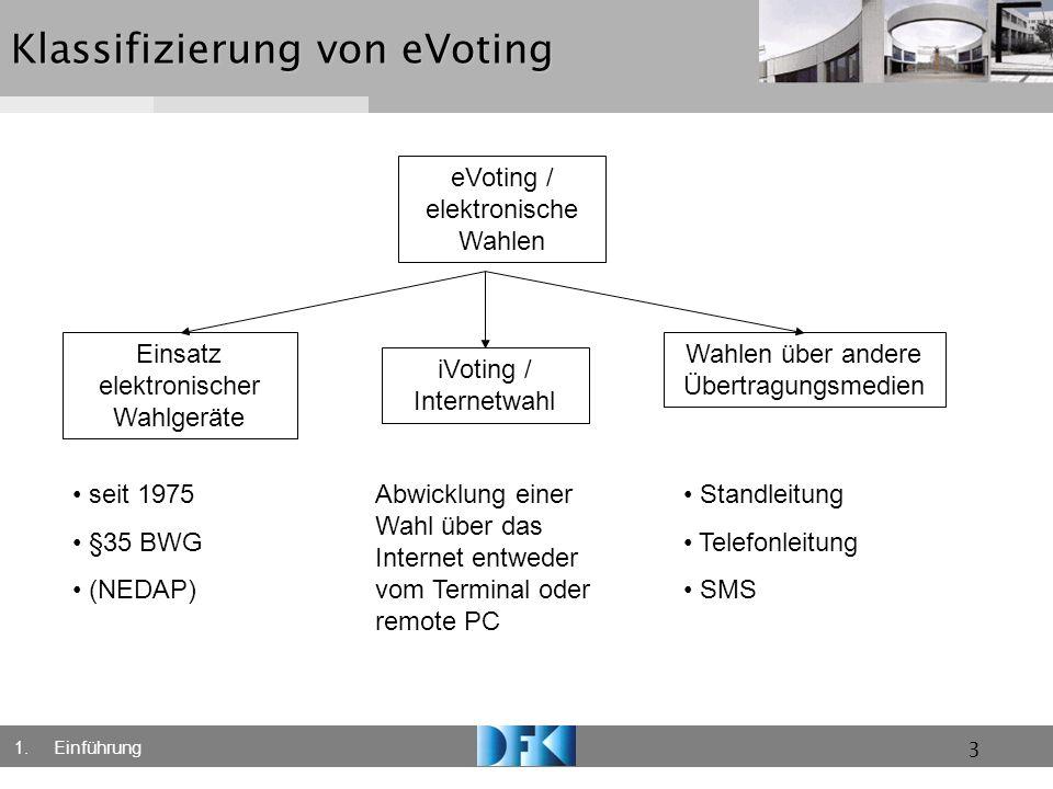 Klassifizierung von eVoting