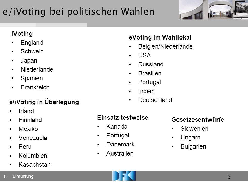 e/iVoting bei politischen Wahlen