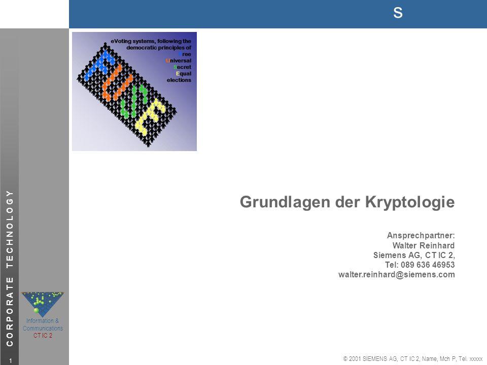 Grundlagen der Kryptologie