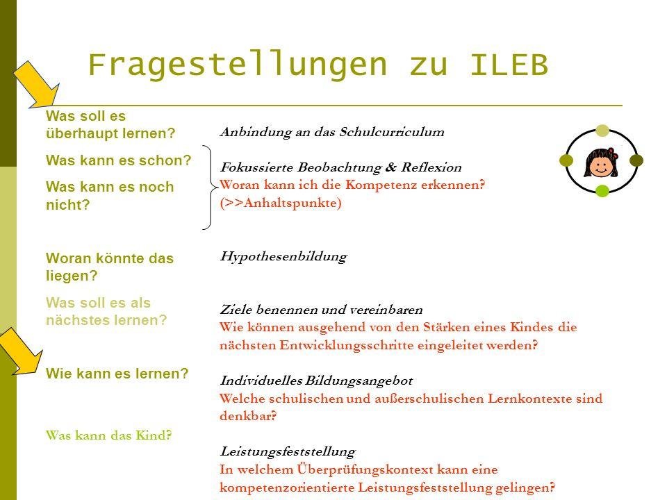 Fragestellungen zu ILEB