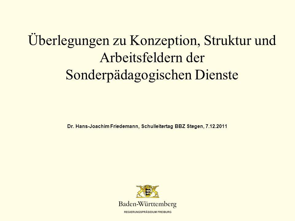 Dr. Hans-Joachim Friedemann, Schulleitertag BBZ Stegen, 7.12.2011