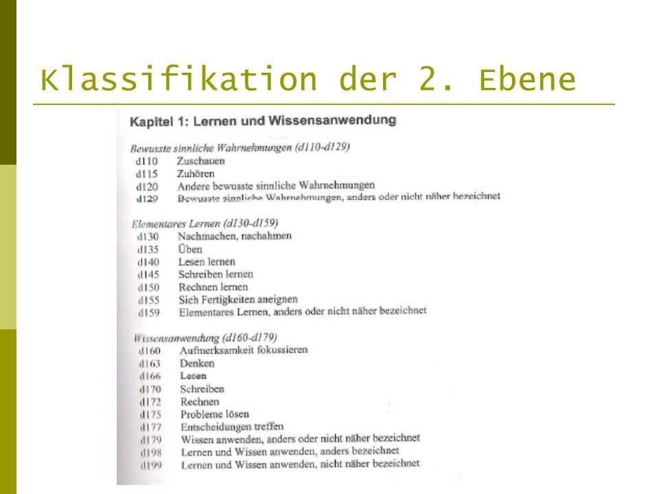 Klassifikation der 2. Ebene