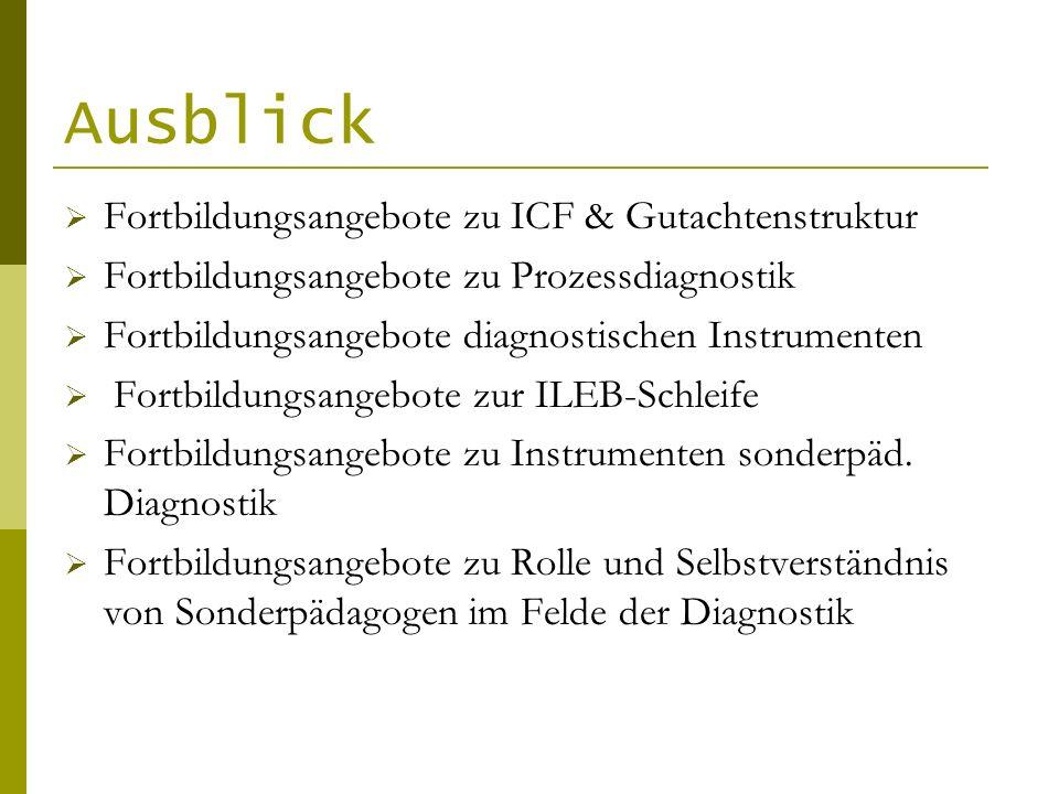 Ausblick Fortbildungsangebote zu ICF & Gutachtenstruktur