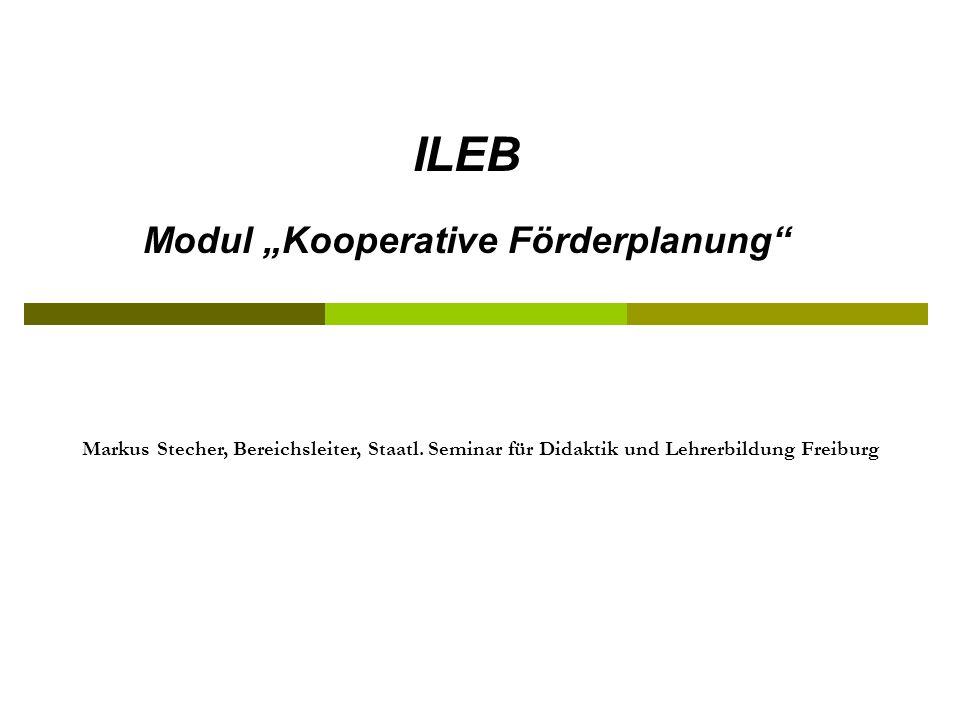 "Modul ""Kooperative Förderplanung"