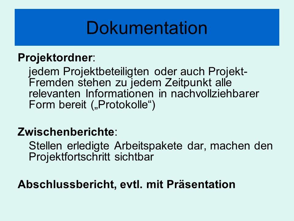 Dokumentation Projektordner:
