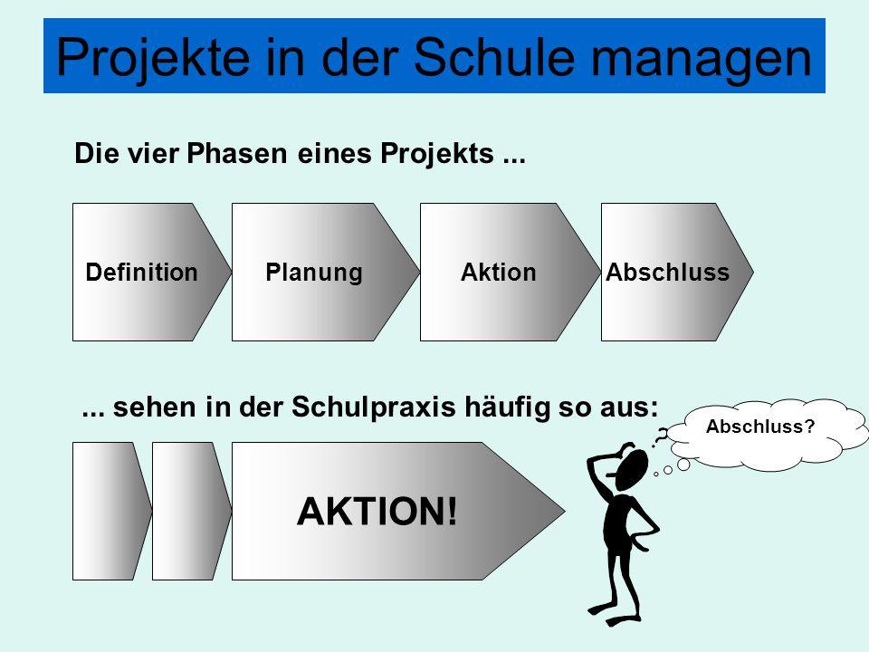 Projekte in der Schule managen