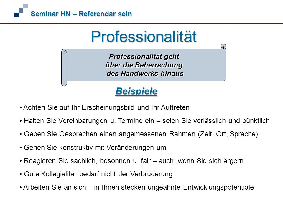 Professionalität geht